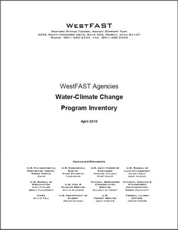 Water-Climate Change Program Inventory