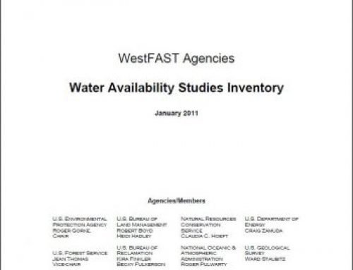 WestFAST Water Availability Studies Inventory (2011)
